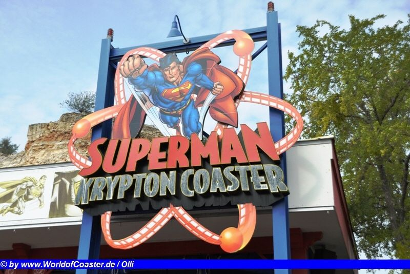 Superman Krypton Coaster @ Six Flags Fiesta Texas Warner